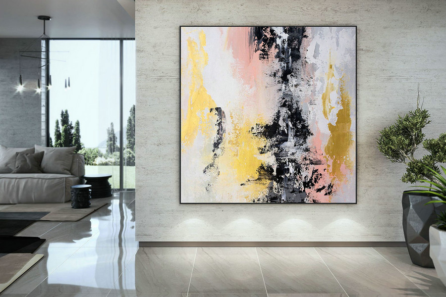 Extra Large Wall Art Palette Knife Artwork Original Painting,Painting on Canvas Modern Wall Decor Contemporary Art, Abstract Painting DMC174