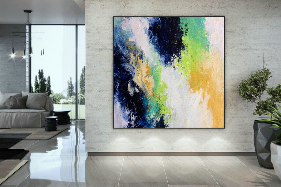 Extra Large Wall Art Palette Knife Artwork Original Painting,Painting on Canvas Modern Wall Decor Contemporary Art, Abstract Painting DMC170