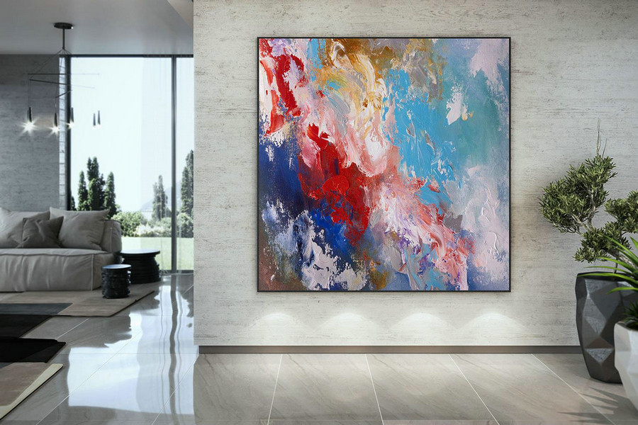 Extra Large Wall Art Palette Knife Artwork Original Painting,Painting on Canvas Modern Wall Decor Contemporary Art, Abstract Painting DMc164