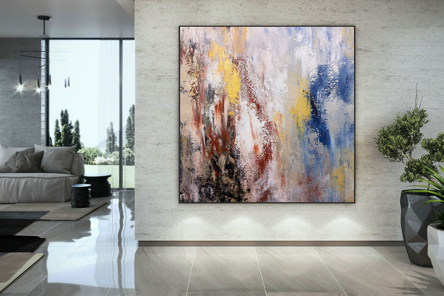 Extra Large Wall Art Palette Knife Artwork Original Painting,Painting on Canvas Modern Wall Decor Contemporary Art, Abstract Painting DMC162
