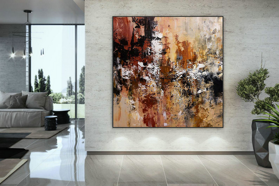 Extra Large Wall Art Palette Knife Artwork Original Painting,Painting on Canvas Modern Wall Decor Contemporary Art, Abstract Painting DMC161
