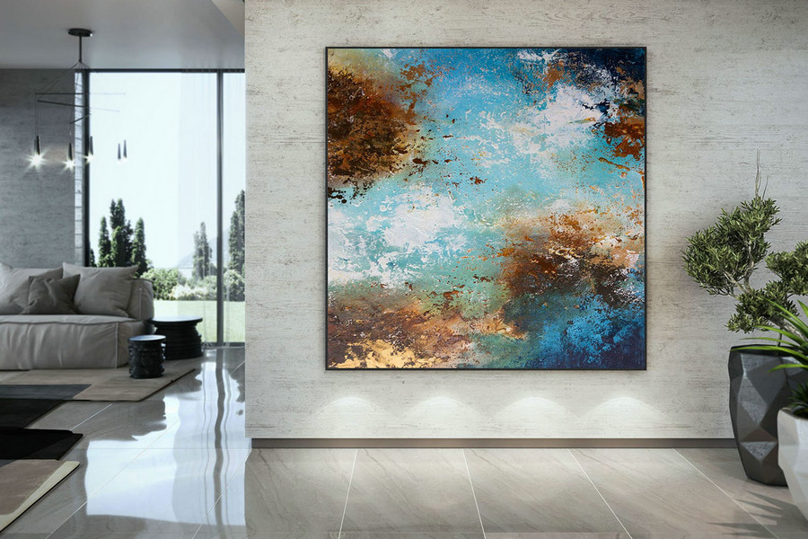 Extra Large Wall Art Palette Knife Artwork Original Painting,Painting on Canvas Modern Wall Decor Contemporary Art, Abstract Painting DMC151