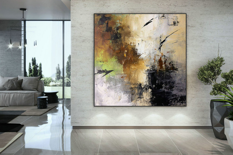 Extra Large Wall Art Palette Knife Artwork Original Painting,Painting on Canvas Modern Wall Decor Contemporary Art, Abstract Painting DMC150