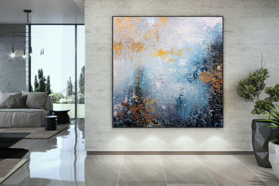 Extra Large Wall Art Palette Knife Artwork Original Painting,Painting on Canvas Modern Wall Decor Contemporary Art, Abstract Painting DMC143
