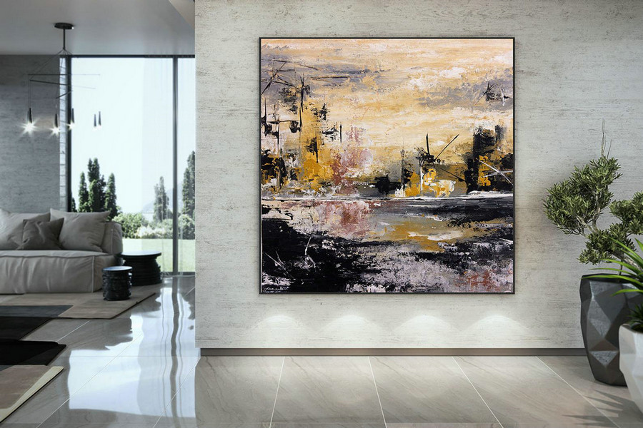 Extra Large Wall Art Palette Knife Artwork Original Painting,Painting on Canvas Modern Wall Decor Contemporary Art, Abstract Painting DMC140