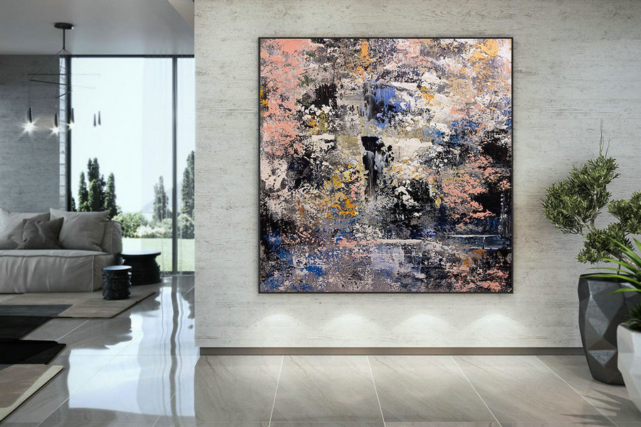 Extra Large Painting , Modern Acrylic Painting on Canvas, Original Wall Art, Painting Modern, Large Paintings DMC124