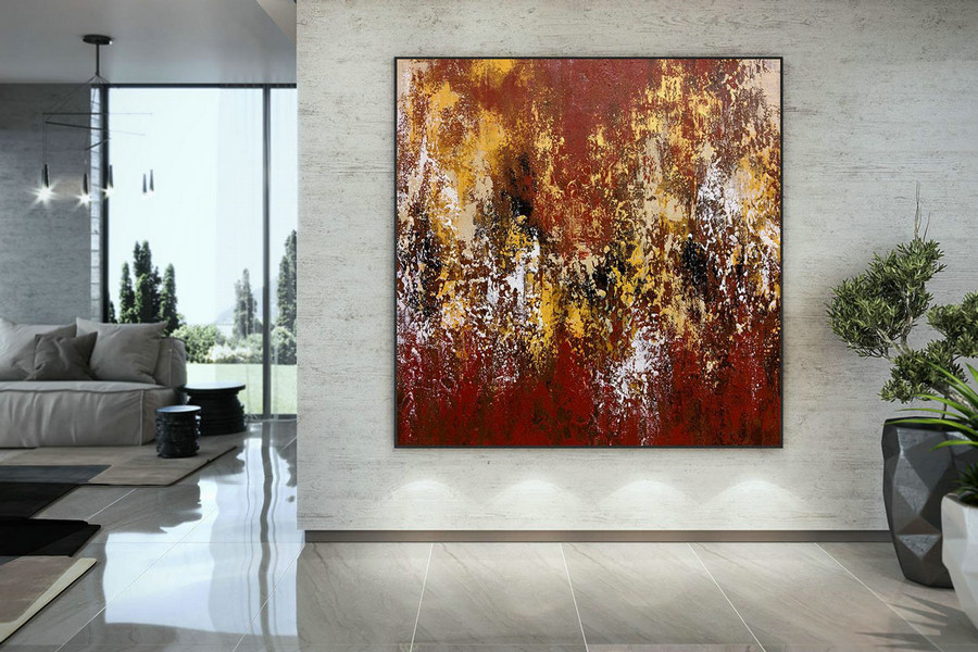 Original Painting,Painting on Canvas Modern Wall Decor Contemporary Art, Abstract Painting DMC116