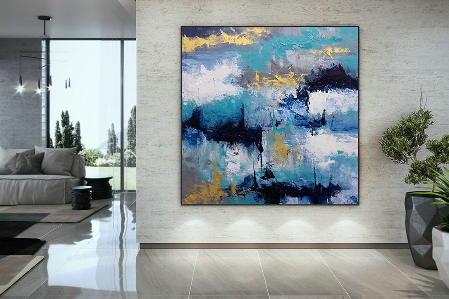 Extra Large Wall Art Palette Knife Artwork Original Painting,Painting on Canvas Modern Wall Decor Contemporary Art, Abstract Painting DMC113