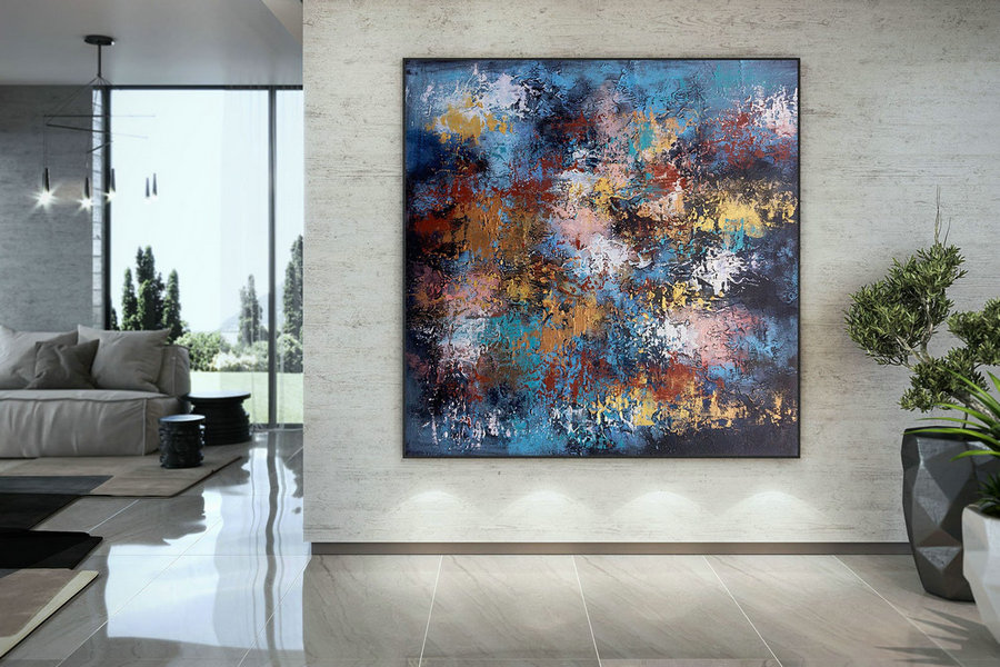 Abstract Canvas Art Extra Large Artwork Original Painting,Painting on Canvas Modern Wall Decor Contemporary Art, Abstract Painting DMC111
