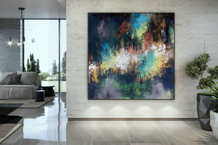 Large Abstract Painting,Modern abstract painting,painting colorful,large canvas art,abstract painting,acrylic textured DAC058