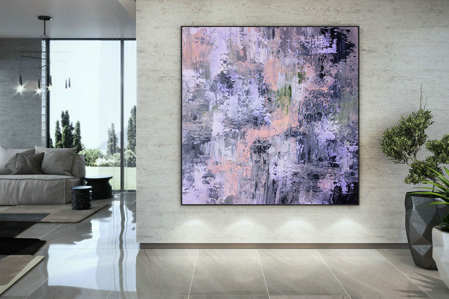 Large Abstract Painting,Modern abstract painting,square painting,huge canvas art,xl abstract painting,textured art DAC056