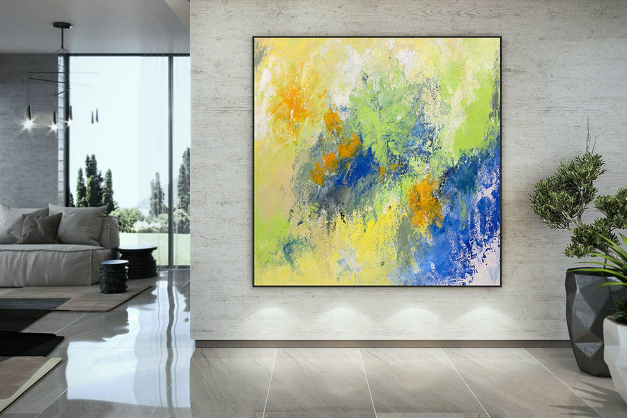 Extra Large Wall Art Original Handpainted Contemporary XL Abstract Painting Horizontal Vertical Huge Size Art Bright and Colorful DAc010