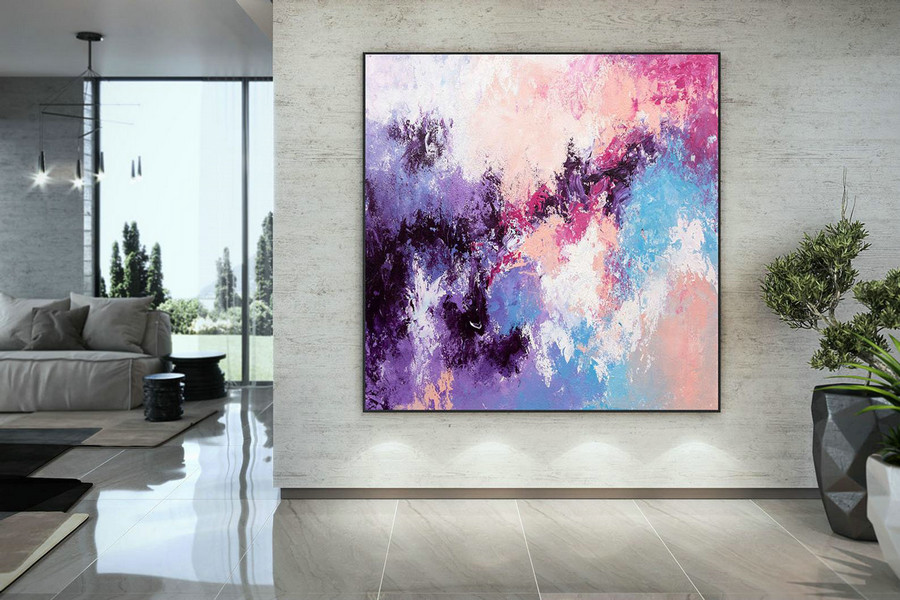 Large Abstract Painting,bright painting art,large vertical art,colorful abstract,modern textured DAc008
