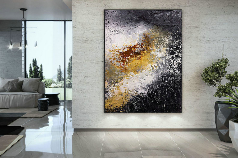Extra Large Wall Art Palette Knife Artwork Original Painting,Painting on Canvas Modern Wall Decor Contemporary Art, Abstract Painting DMC152