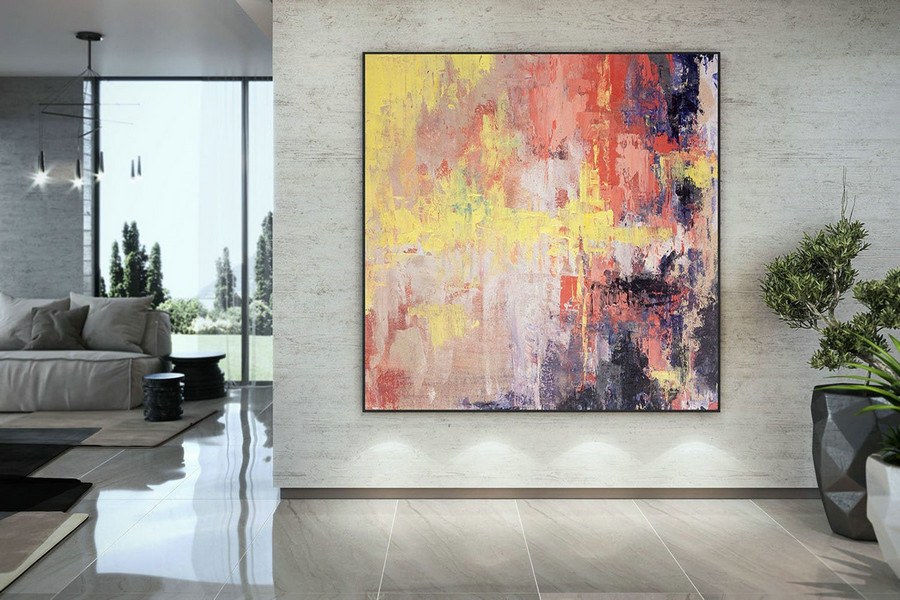 Large Abstract Painting,Original Painting Large Paintings,livingroom decor,original painting,large modern canvas DAc005