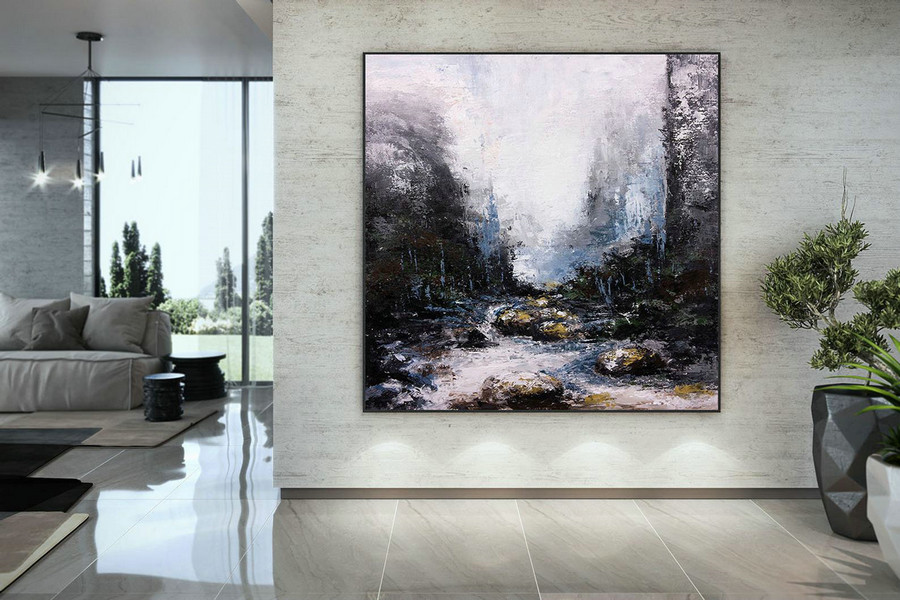 Large Abstract Painting,Modern abstract painting,original painting,large canvas art,xl abstract painting,art with texture DMC224