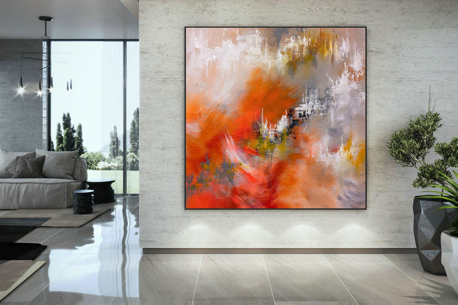 Large Painting on Canvas,Original Painting on Canvas,abstract canvas art,acrylic abstract,painting colorful,textured art DMC210