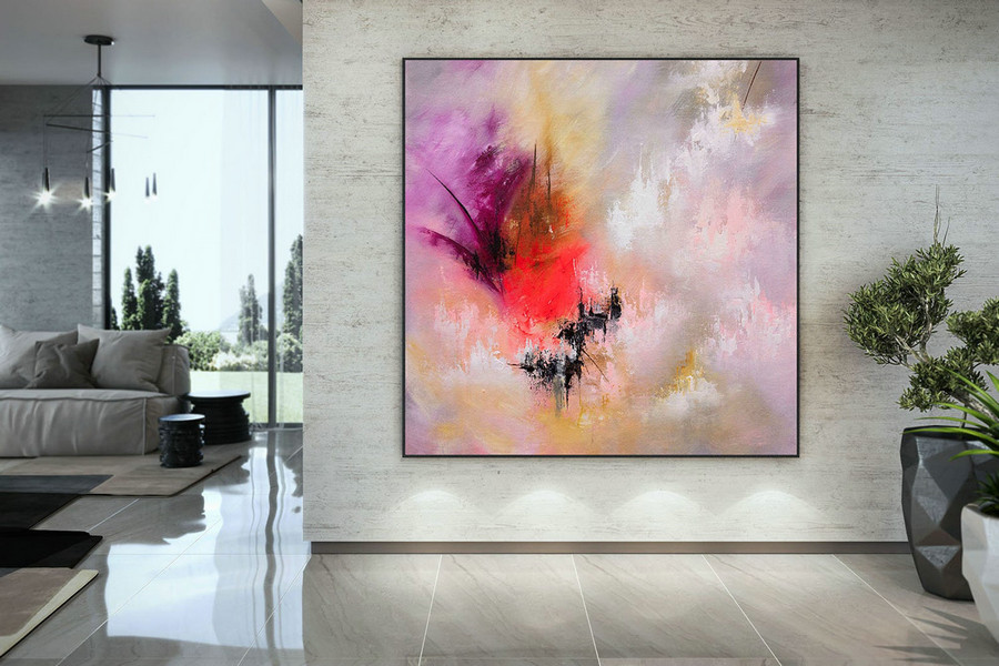 Large Painting on Canvas,Original Painting on Canvas,acrylics paintings,large wall art,huge canvas art,original textured DMC208