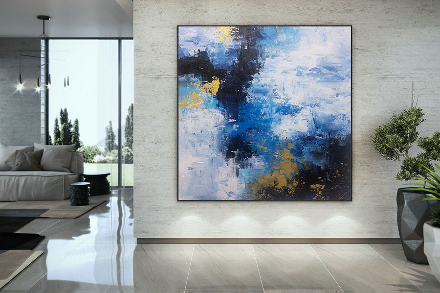 Extra Large Wall Art on Canvas, Original Abstract Paintings , Contemporary Art, Mdoern Living Room Decor ,Office Oversize Artworks DMC196