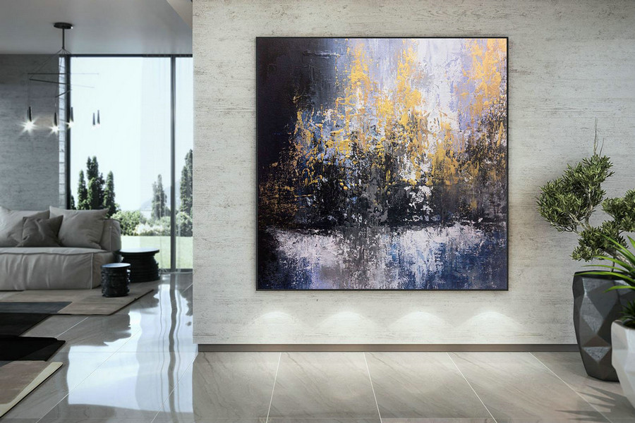 Extra Large Wall Art on Canvas, Original Abstract Paintings , Contemporary Art, Mdoern Living Room Decor ,Office Oversize Artworks DMC195