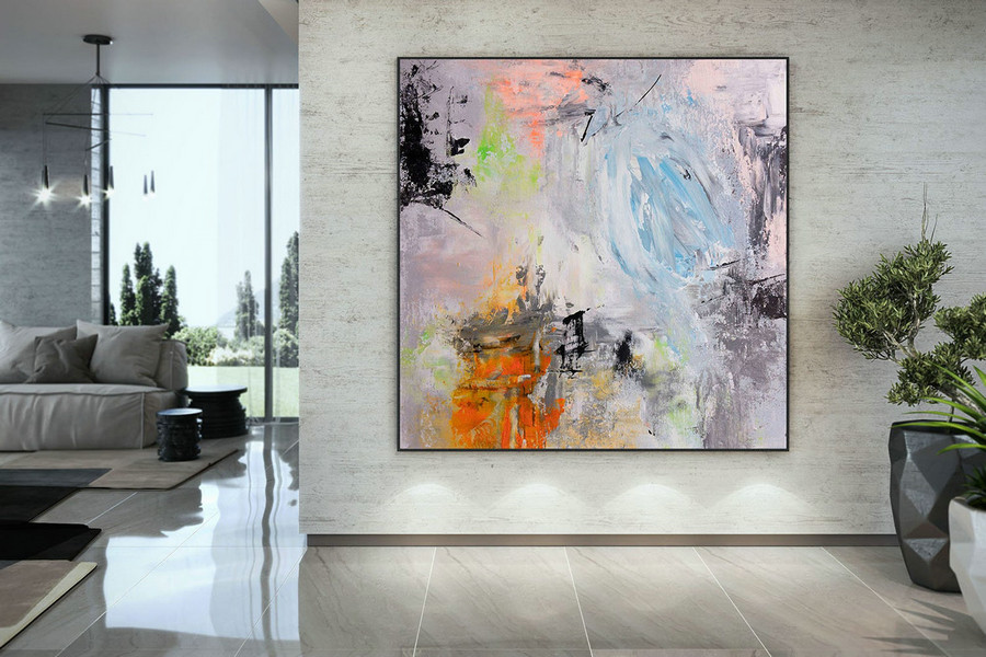 Extra Large Wall Art Palette Knife Artwork Original Painting,Painting on Canvas Modern Wall Decor Contemporary Art, Abstract Painting DMC189