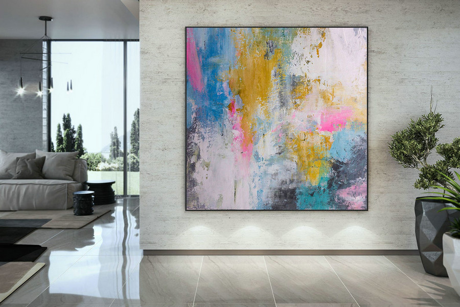 Extra Large Wall Art Palette Knife Artwork Original Painting,Painting on Canvas Modern Wall Decor Contemporary Art, Abstract Painting DMC186