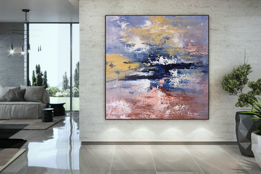 Extra Large Wall Art on Canvas, Original Abstract Paintings , Contemporary Art, Mdoern Living Room Decor ,Office Oversize Artworks DMC180