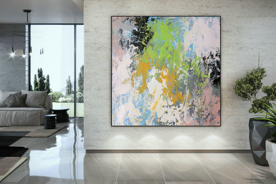 Extra Large Wall Art Palette Knife Artwork Original Painting,Painting on Canvas Modern Wall Decor Contemporary Art, Abstract Painting DMC172