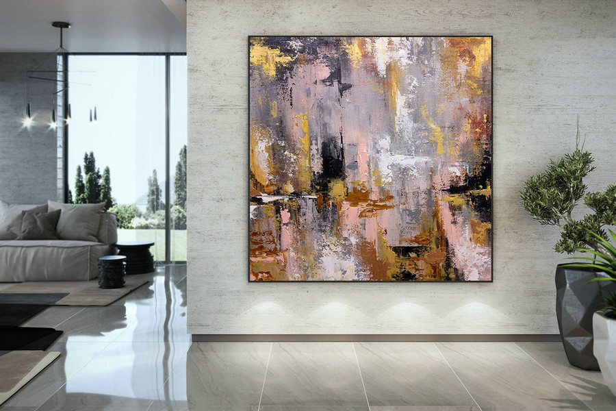 Extra Large Wall Art Palette Knife Artwork Original Painting,Painting on Canvas Modern Wall Decor Contemporary Art, Abstract Painting DMC142