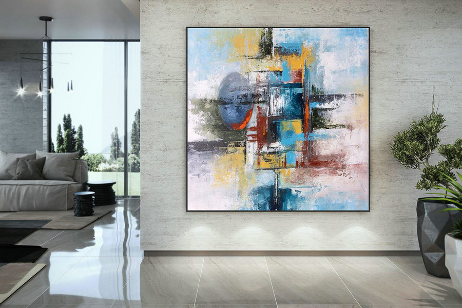 Extra Large Wall Art Palette Knife Artwork Original Painting,Painting on Canvas Modern Wall Decor Contemporary Art, Abstract Painting DMC138