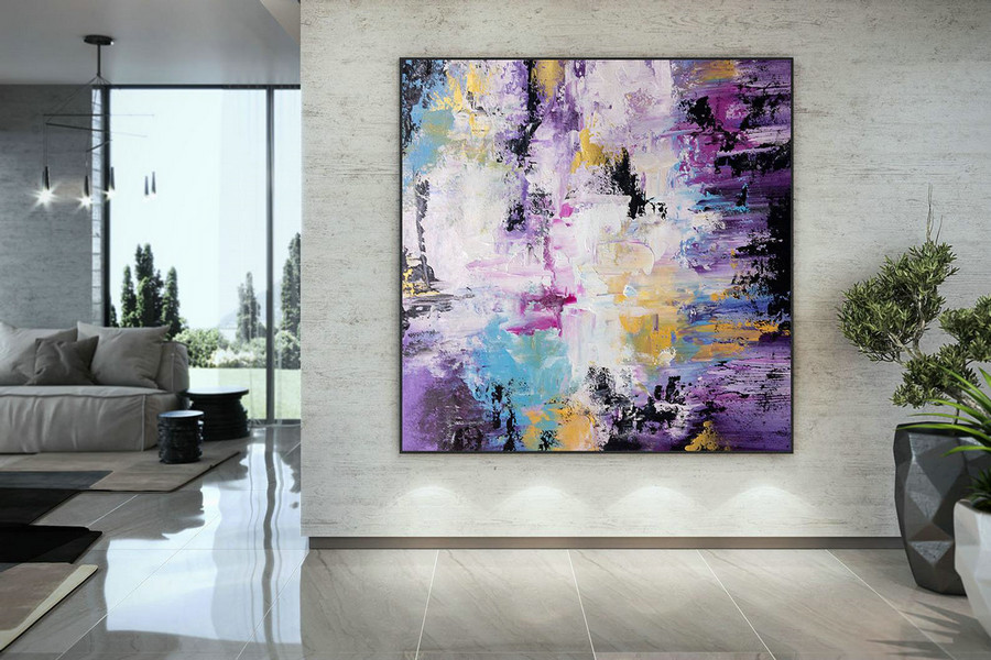 Extra Large Wall Art Palette Knife Artwork Original Painting,Painting on Canvas Modern Wall Decor Contemporary Art, Abstract Painting DMC136