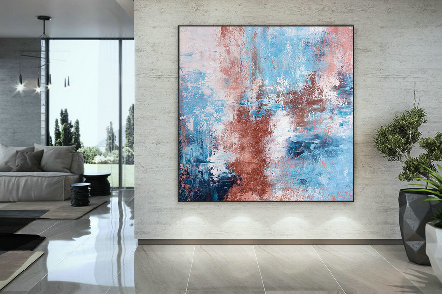 Extra Large Wall Art Palette Knife Artwork Original Painting,Painting on Canvas Modern Wall Decor Contemporary Art, Abstract Painting DMC134