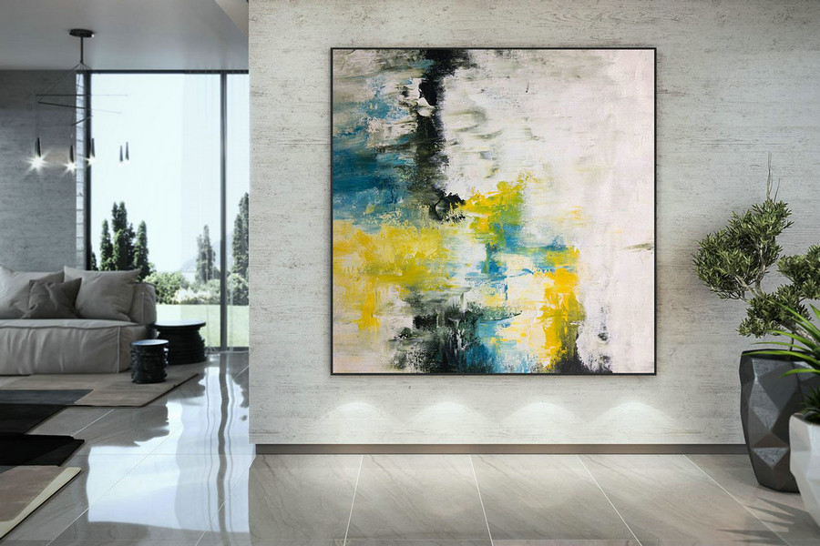 Extra Large Wall Art Palette Knife Artwork Original Painting,Painting on Canvas Modern Wall Decor Contemporary Art, Abstract Painting DMC132