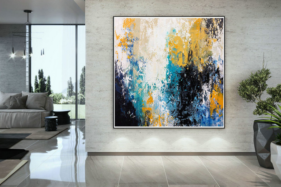 Extra Large Wall Art Palette Knife Artwork Original Painting,Painting on Canvas Modern Wall Decor Contemporary Art, Abstract Painting DMC128