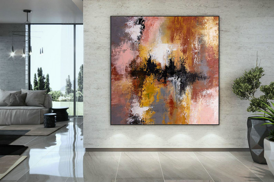 Extra Large Wall Art Original Art Bright Abstract Original Painting On Canvas Extra Large Artwork Contemporary Art Modern Home Decor DMC110