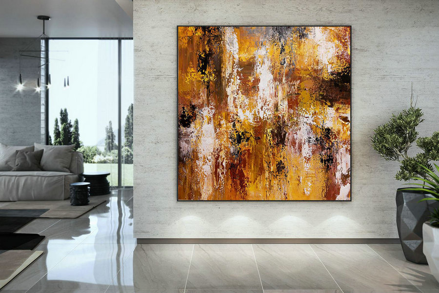 Extra Large Wall Art Original Art Bright Abstract Original Painting On Canvas Extra Large Artwork Contemporary Art Modern Home Decor DMC109