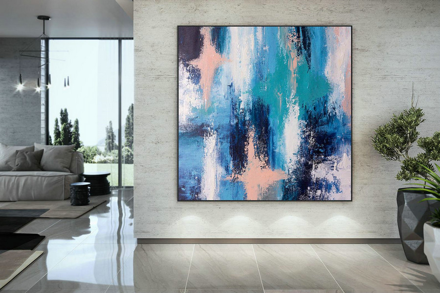 Extra Large Wall Art Original Art Bright Abstract Original Painting On Canvas Extra Large Artwork Contemporary Art Modern Home Decor DMC106