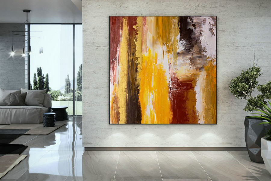 Extra Large Wall Art Original Art Bright Abstract Original Painting On Canvas Extra Large Artwork Contemporary Art Modern Home Decor DMC104