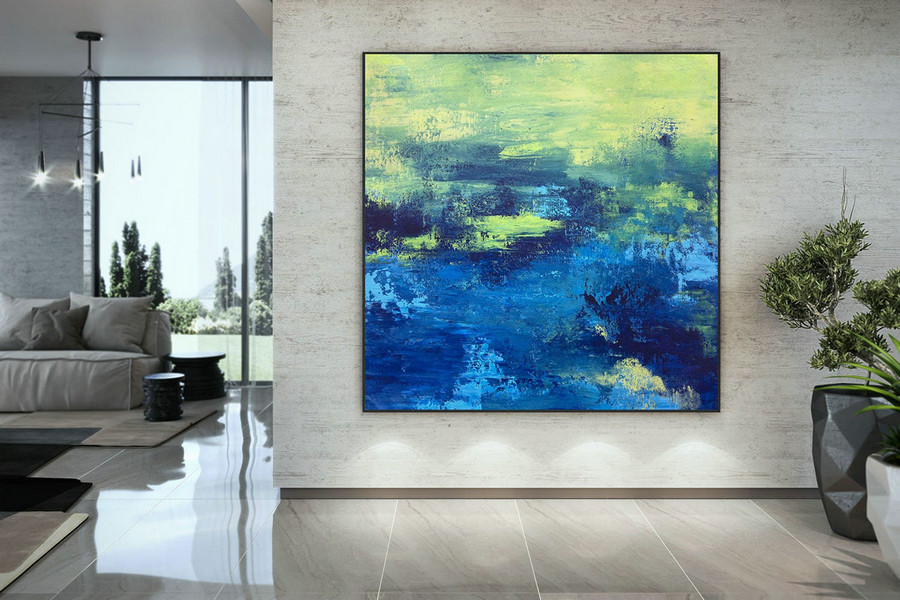 Large Abstract Painting,Modern abstract painting,texture painting,modern oil canvas,colorful abstract,textured paintings DAC042