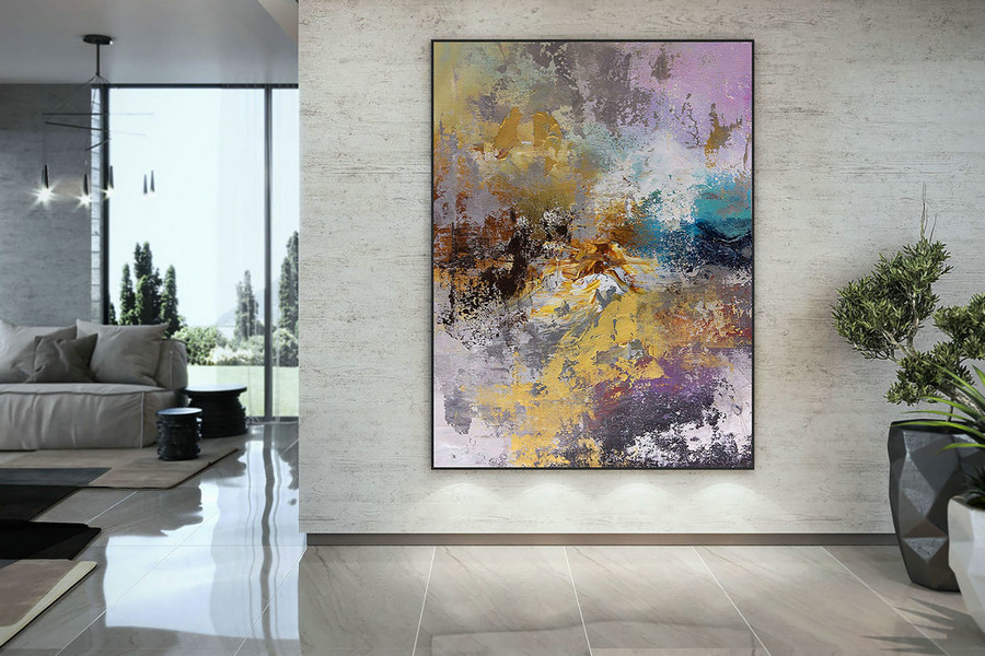Extra Large Wall Art Palette Knife Artwork Original Painting,Painting on Canvas Modern Wall Decor Contemporary Art, Abstract Painting DMC154