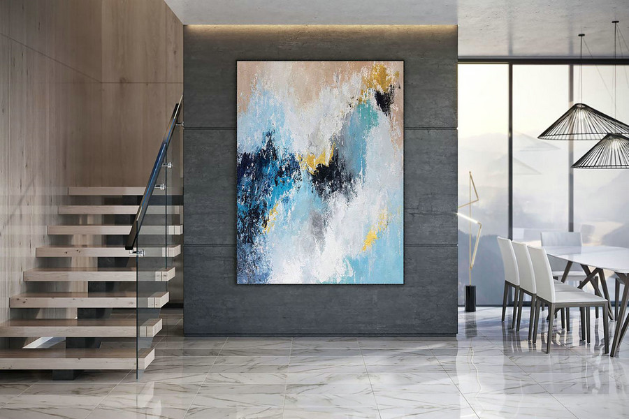 Large Modern Wall Art Painting,Large Abstract wall art,bright painting art,abstract painting,canvas wall art DAc002