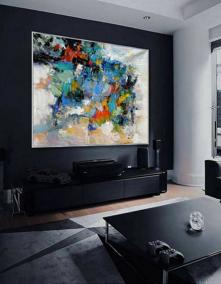 "Contemporary abstract wall Art Hand painted Modern painting Super Large Oversize Acrylic Canvas Art 60x80"" / 150x200cm"
