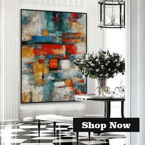 Abstract Canvas Art Abstract Wall Art Large Painting Abstract Painting Extra Large Wall Art Abstract Art HLBW No.J26NA